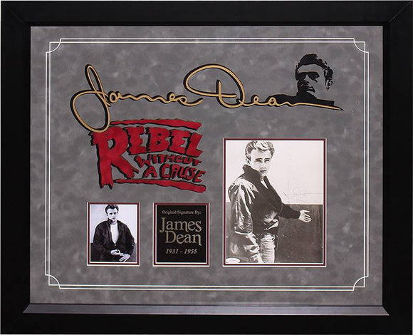 """Rebel Without A Cause"" James Dean Signed 8x10"