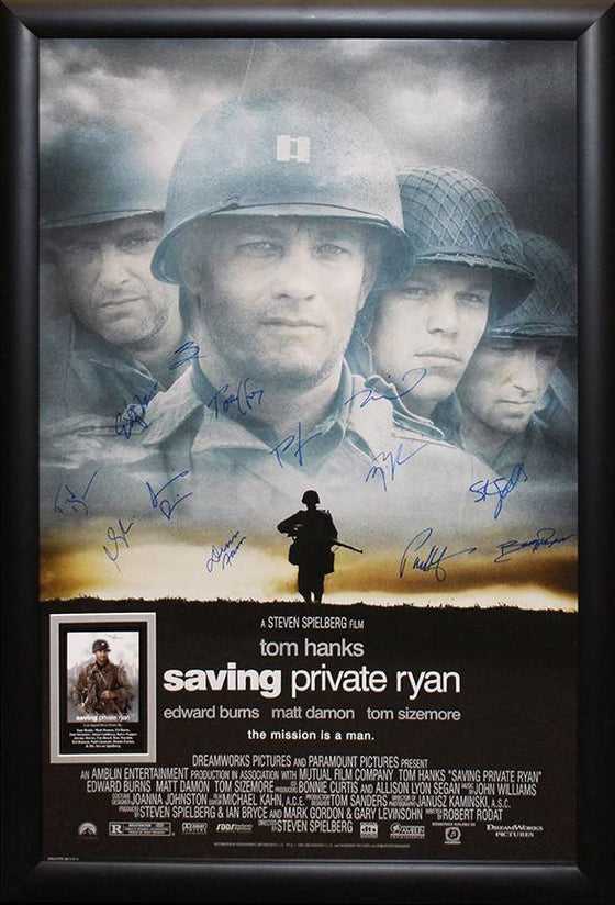 """Saving Private Ryan"" Cast Signed Poster"