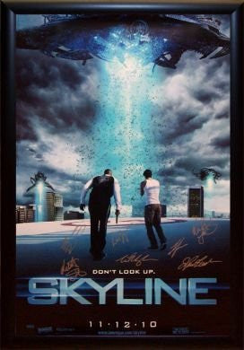 Skyline Signed Movie Poster