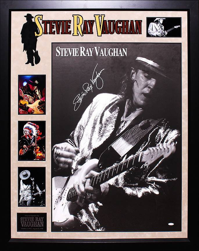 Stevie Ray Vaughan Signed Concert Poster Collage