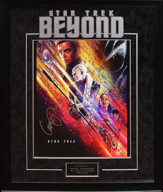 """Star Trek: Beyond"" Cast signed 16x20"