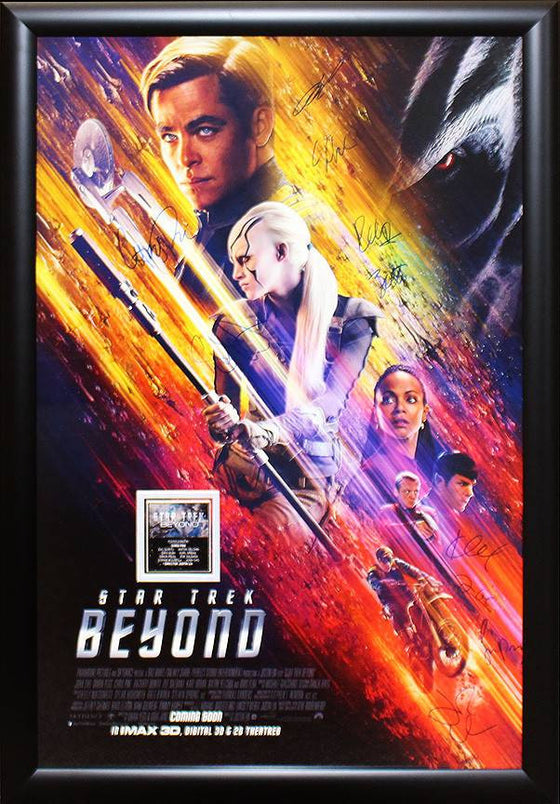"""Star Trek:Beyond"" Cast signed poster"