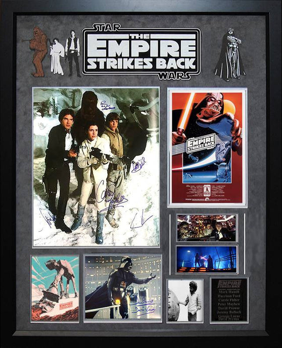 """Star Wars: Empire Strikes Back"" Cast signed 16x20 collage"