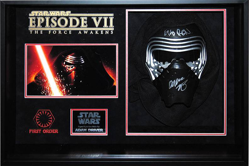 """Star Wars: Force Awakens"" Signed Kylo-Ren mask"