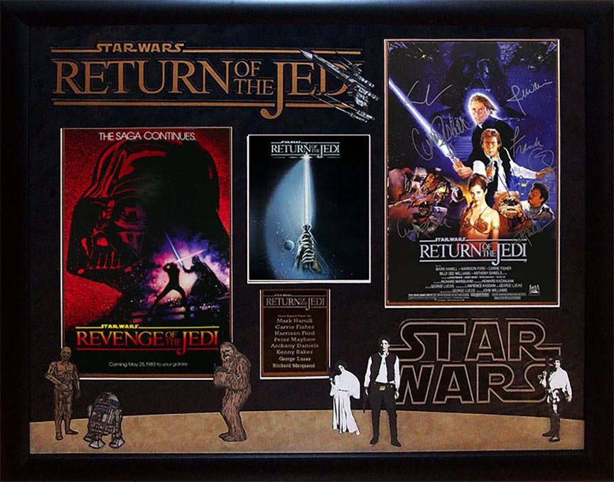 """Star Wars: Return of the Jedi"" cast 11x17 mini-poster board"