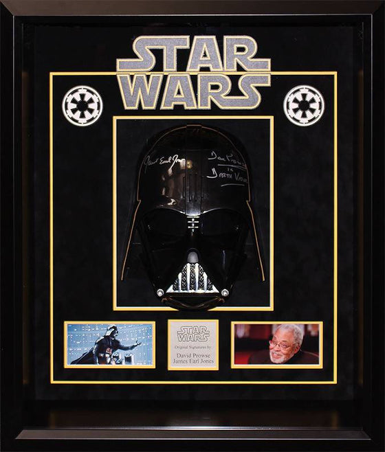 """Star Wars"" David Prowse & George Lucas signed ""Vader"" helmet"