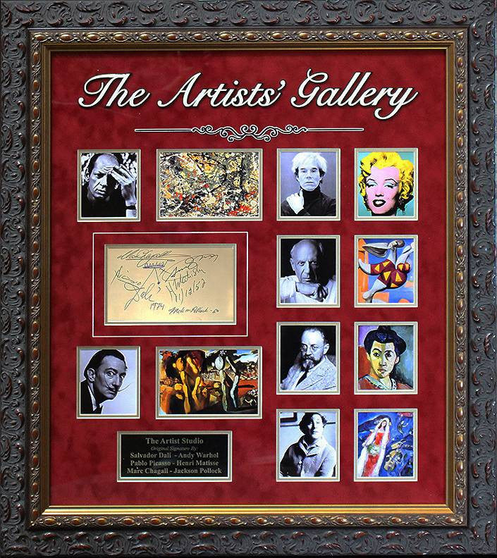 """Artist's Gallery"" 8 artists signatures (together)"