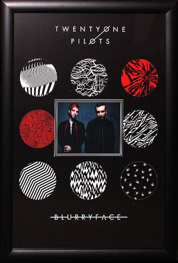 """Twenty One Pilots"" Signed 8x10 Photo with Poster"