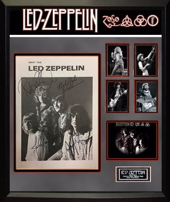 "Led Zeppelin Signed ""Meet The Zeppelins"" Signed Page"