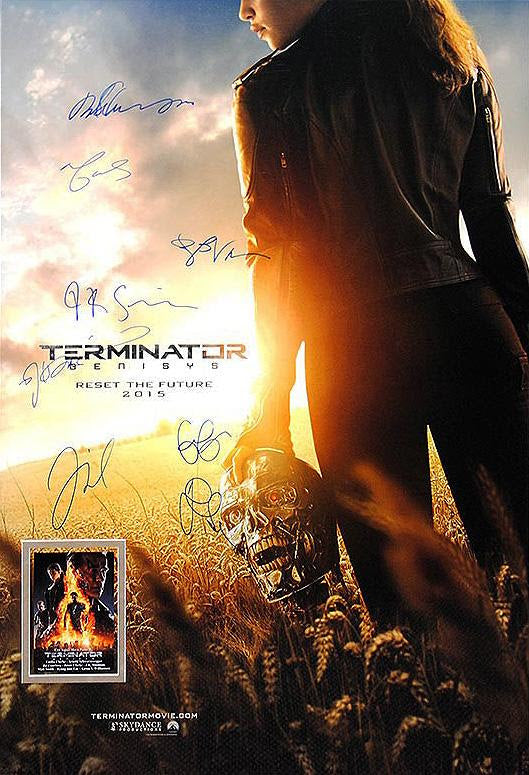 """Terminator: Genisys"" - Cast Signed Movie Poster (Unframed)"