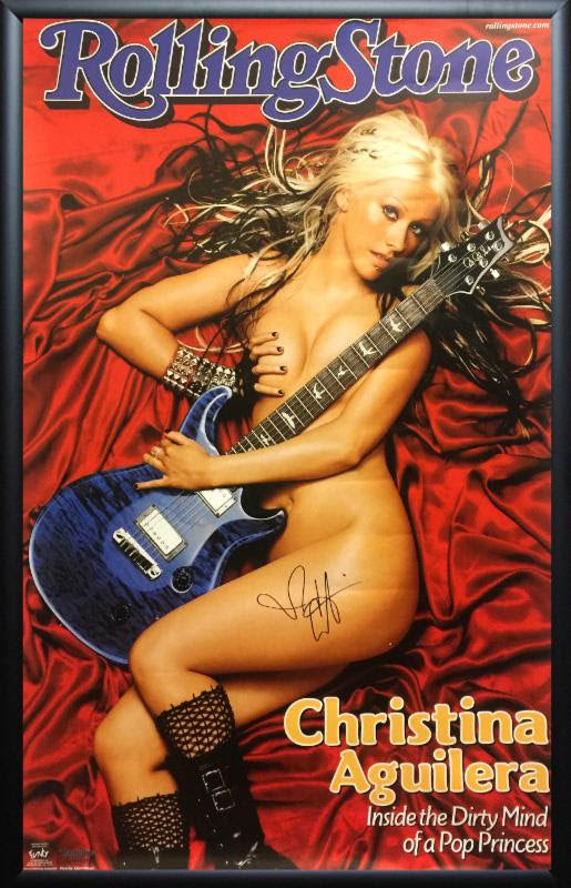 Christina Aguilera - Signed Poster
