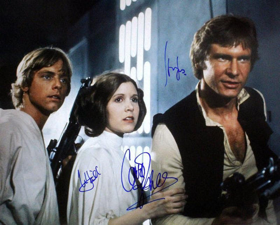 """Star Wars: A New Hope"" - Cast signed 16x20 Photo (Unframed)"