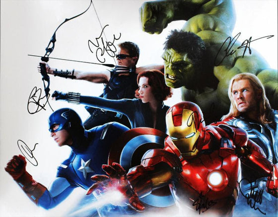 """The Avengers"" - Cast signed 16x20 Photo (Unframed)"