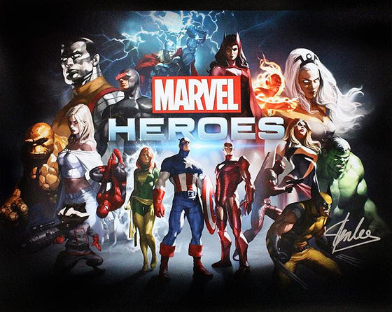 """Marvel Heroes"" - Signed 16x20 Photo (Unframed)"