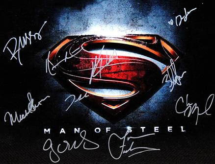 """Man of Steel"" - Cast signed 16x20 Photo (Unframed)"