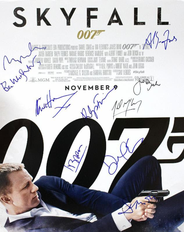 """James Bond: Skyfall"" - Cast signed 16x20 Movie Poster (Unframed) (Option 1)"