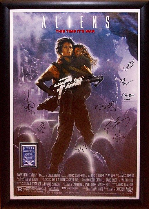 """Aliens"" Signed Movie Poster"