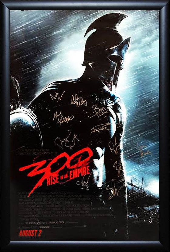"""300: Empire"" cast signed poster"