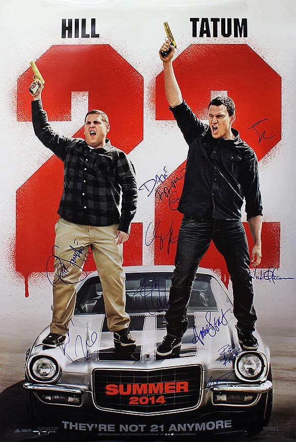 """22 Jump Street"" - Cast Signed Movie Poster (Unframed)"