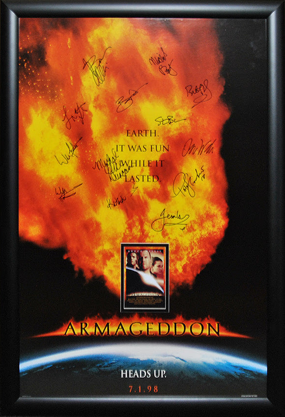 """Armageddon"" Signed Movie Poster"