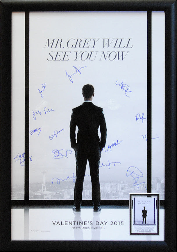 """50 Shades of Grey"" Signed Movie Poster"