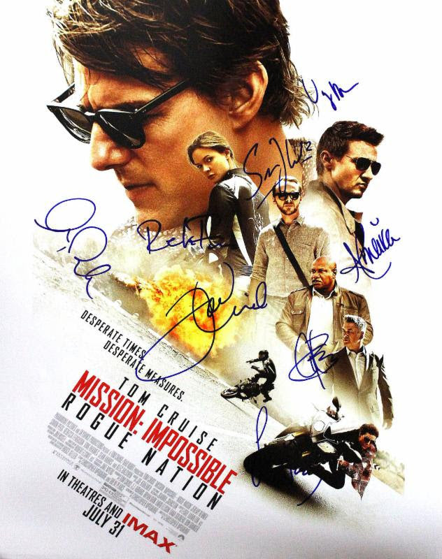 """Mission Impossible: Rogue Nation"" - Cast signed 16x20 Photo (Unframed)"