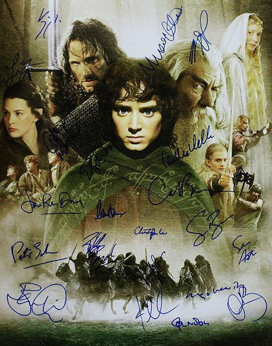 """Lord of the Rings: The Fellowship of the Ring"" - Cast signed 16x20 Photo (Unframed)"