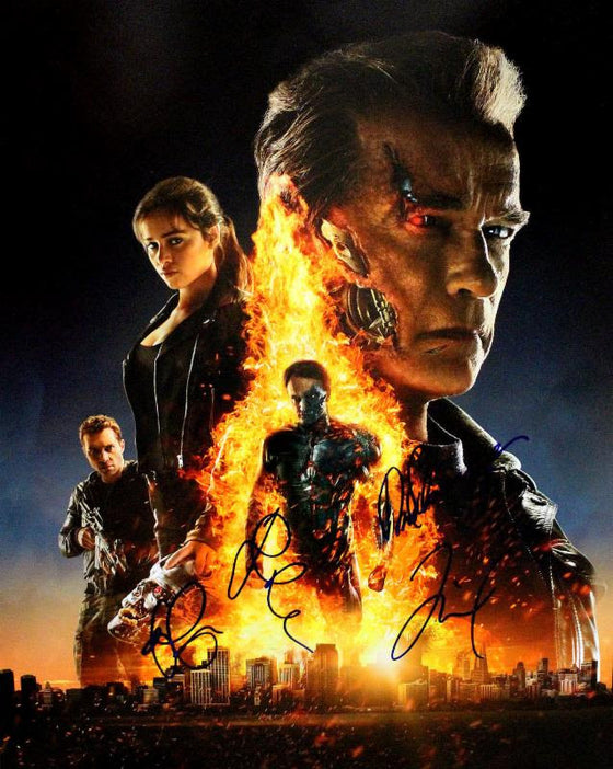 """Terminator: Genisys"" - Cast signed 16x20 Photo (Unframed)"