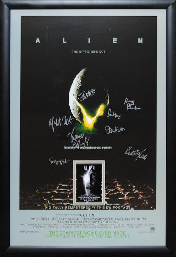 """Alien"" Signed Movie Poster"
