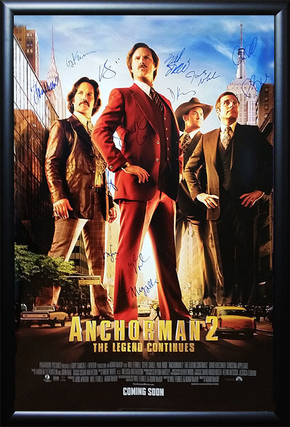 """Anchorman 2"" Signed Movie Poster"