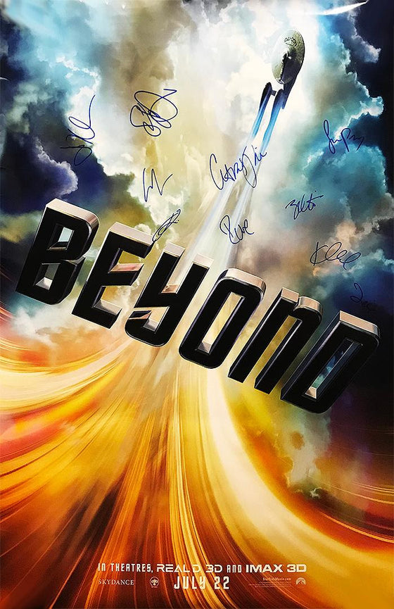 """Star Trek: Beyond"" - Cast Signed Movie Poster (Unframed)"