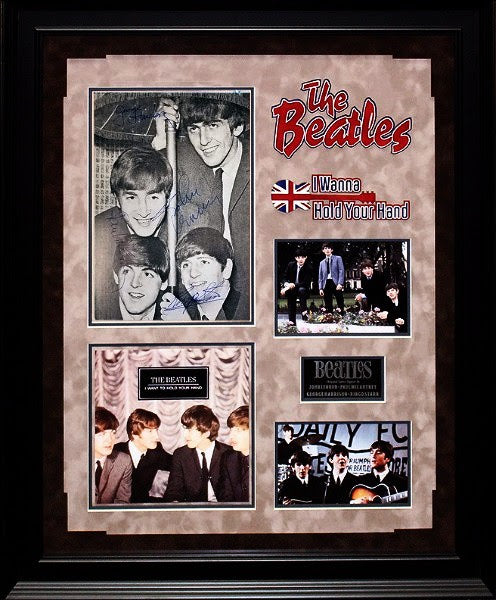 """The Beatles"" Signed Early magazine page Photo"