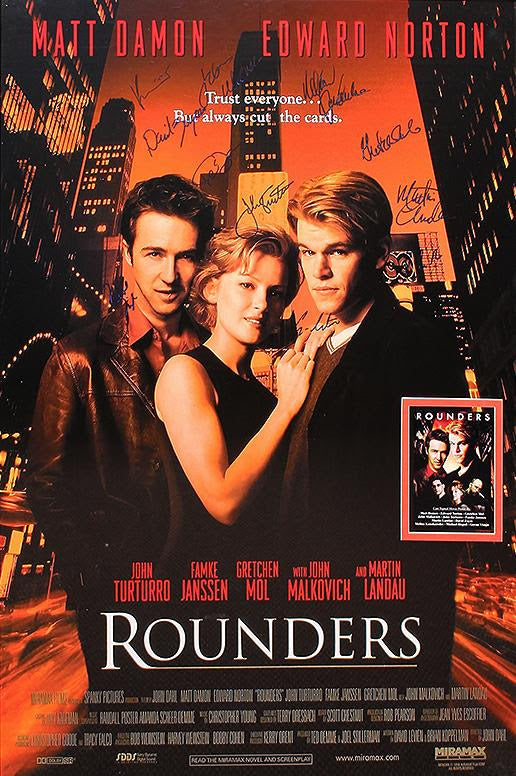 """Rounders"" - Cast Signed Movie Poster (Unframed)"