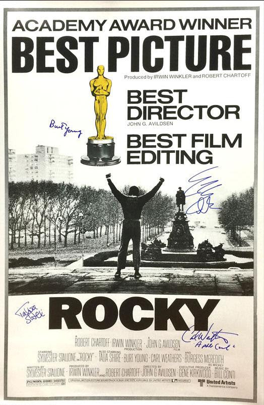 """Rocky"" - Cast Signed Poster (Unframed)"