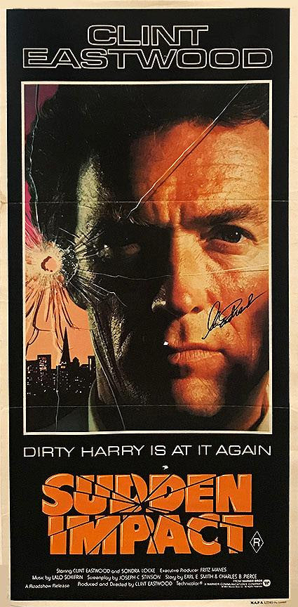 """Dirty Harry: Sudden Impact"" - Signed ""Daybill"" Poster (Unframed)"