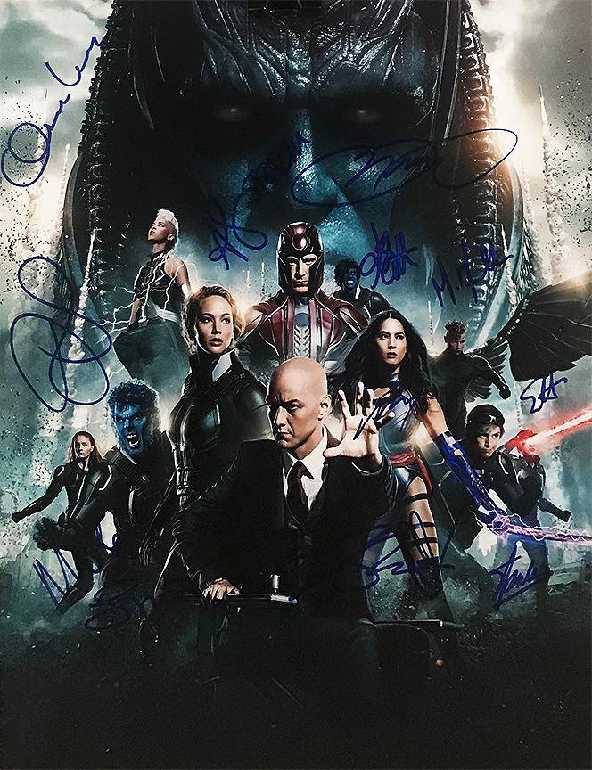 """X-Men: Apocalypse"" - Cast signed 16x20 Photo (Unframed)"