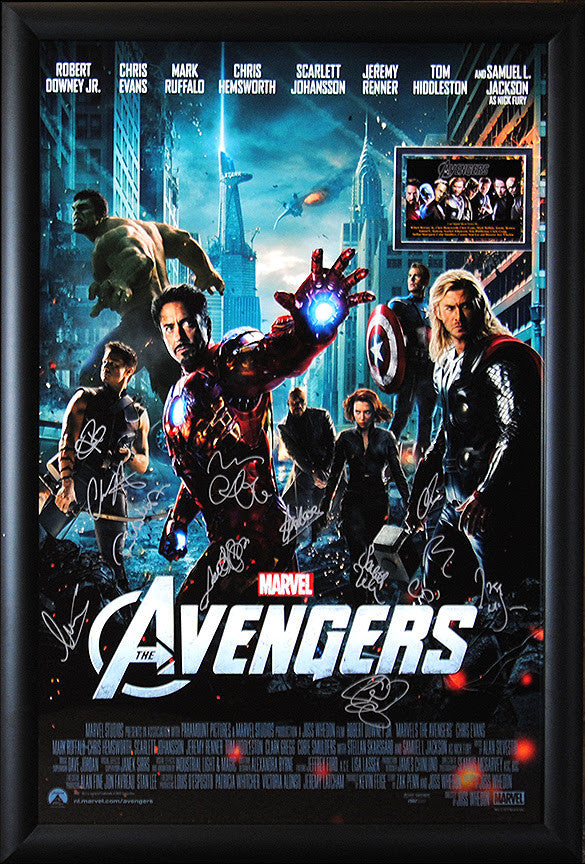 """Avengers, The"" Signed Movie Poster"