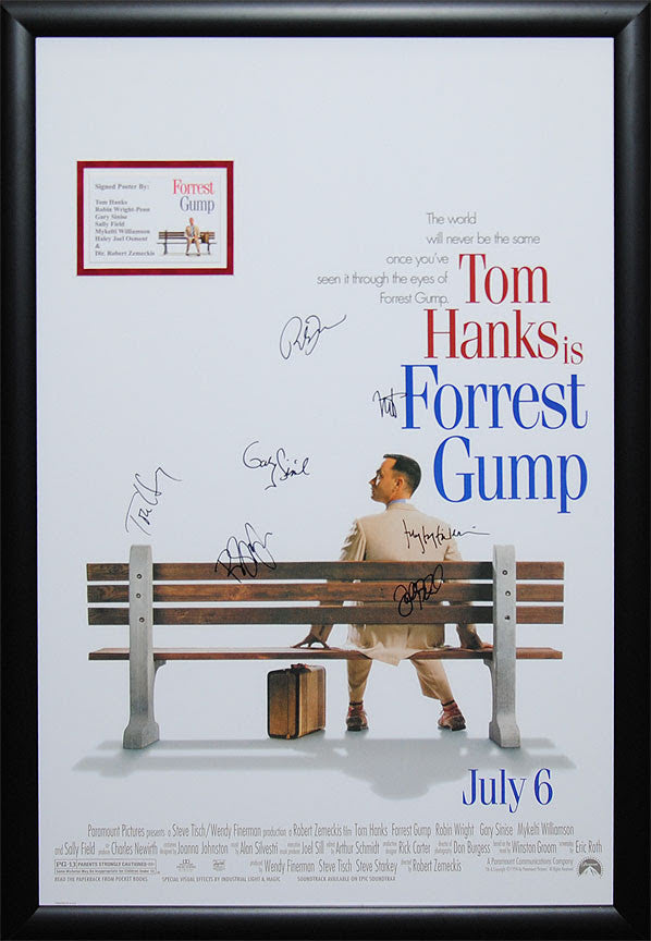"""Forrest Gump"" Signed Movie Poster"