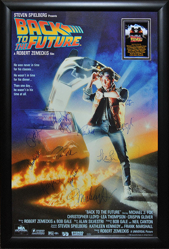 """Back to the Future"" Signed Movie Poster"
