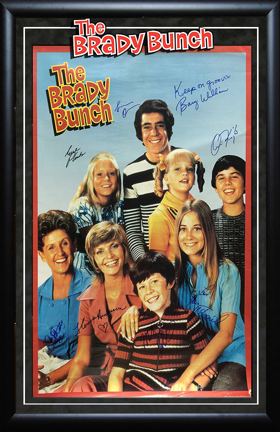 """The Brady Bunch"" Signed Movie Poster"