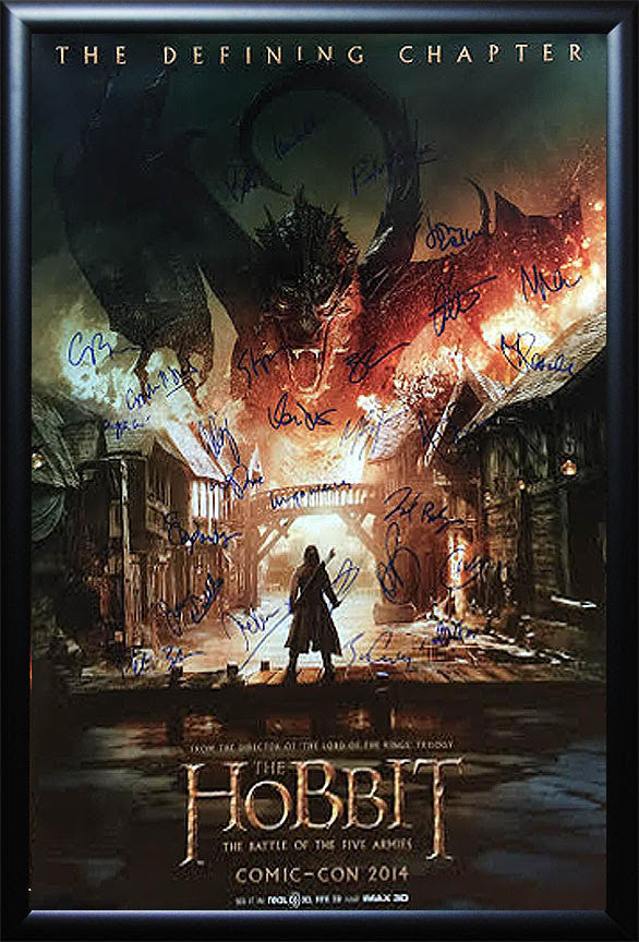 """The Hobbit-Battle of the 5 Armies"" Signed Movie Poster (option 2) Comic-Con Version"