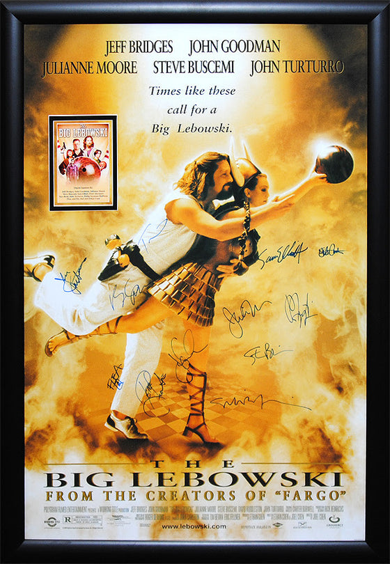 """Big Lebowski, The"" Signed Movie Poster"