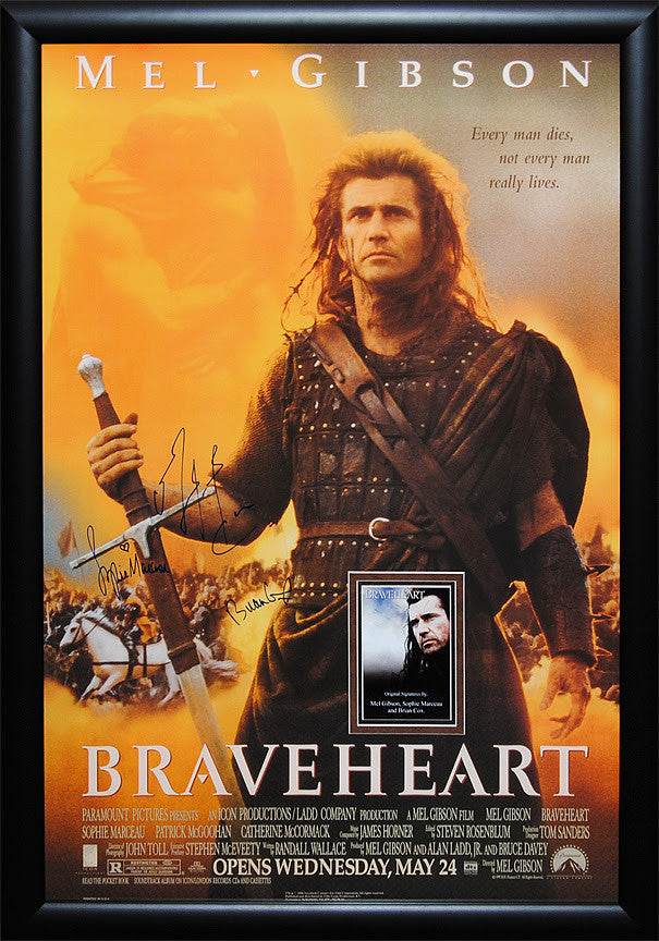 """Braveheart"" Signed Movie Poster"