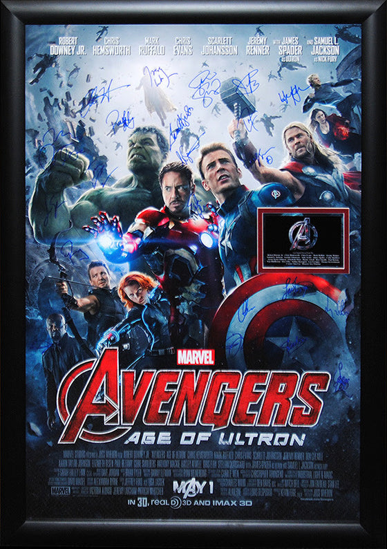 """Avengers-Age Of Ultron, The"" Signed Movie Poster"