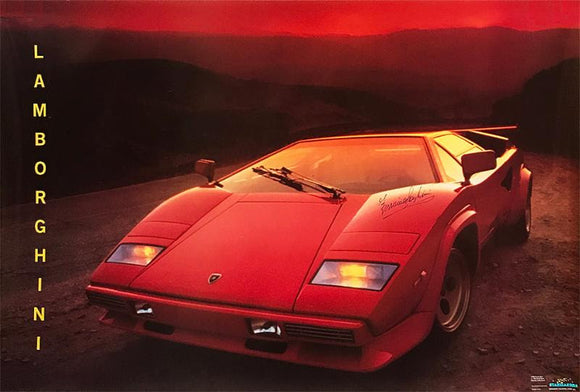 """Lamborghini"" - Signed Countach Collector's Poster (Unframed)"
