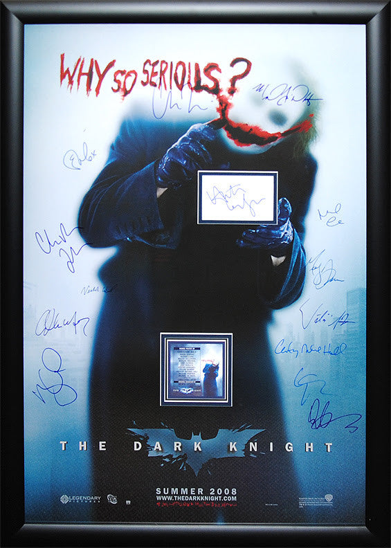 """Dark Knight, The"" Why So Serious Signed Movie Poster"