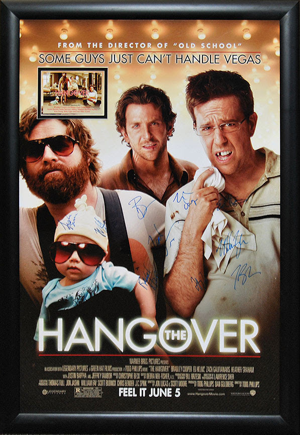 """Hangover"" Signed Movie Poster"