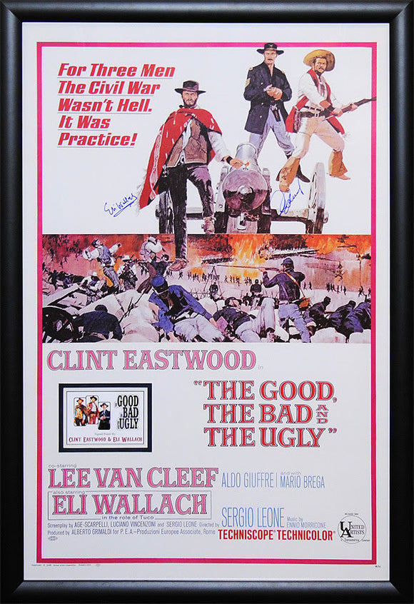 """Good, the Bad & the Ugly, The"" Signed Movie Poster"