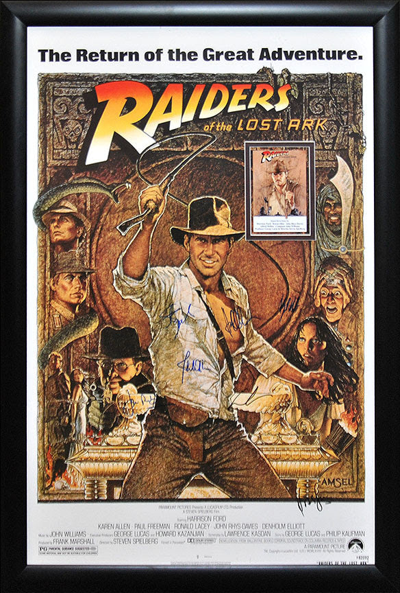 """Indiana Jones-Raiders of the Lost Ark"" Signed Movie Poster"