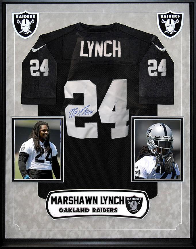 """Oakland Raiders"" Signed Jersey by Marshawn Lynch"